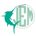 Monogram Marlin Decal